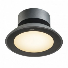 MALU CL, plafonnier anthracite, LED 9,2W 3000K, IP44