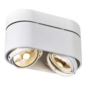 KARDAMOD ROND DOUBLE QPAR111 plafonnier, blanc, GU10, max. 2x75W
