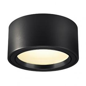 FERA 25, 2000lm, rond, noir, LED 21W, 3000K