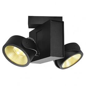 TEC KALU double, applique/plafonnier, noir, LED 31W, 24°, 3000K