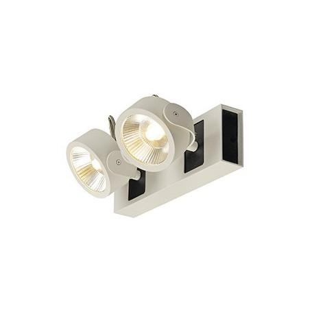 KALU LED 2 applique/plafonnier, blanc/noir, LED 34W, 3000K, 60°
