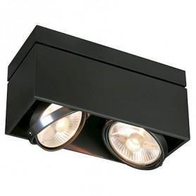 KARDAMOD CARRE DOUBLE QPAR111 plafonnier, noir, GU10, max. 2x75W