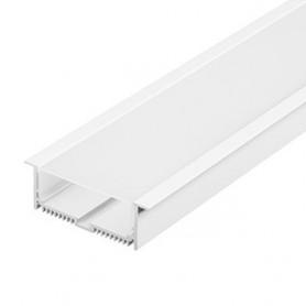 GLENOS profil aluminium à encastrer, avec diffuseur, blanc mat, 2m