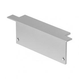 Embouts pour GLENOS profil aluminium à encastrer, gris argent, 2 pièce