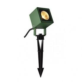 NAUTILUS 10 spot sur piquet, vert, LED 9W 3000K, IP65, 45°