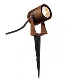 LED SPIKE spot sur piquet, rouille, LED 6W 3000K, IP55, 40°