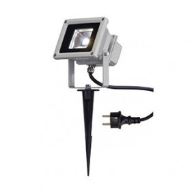 LED OUTDOOR BEAM, gris argent, 10W, 5700K, 100°, IP65