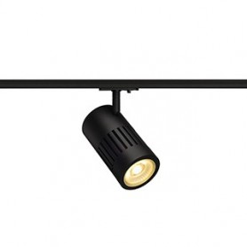 STRUCTEC LED 24W, noir, 3000K, 60°, adapt rail 1 all. inclus