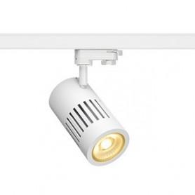 STRUCTEC LED 24W, Blanc, 3000K, 60°, adapt rail 3 all. inclus