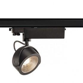 KALU LED spot, noir, LED 17W 3000K, 24°, adaptateur rail 3 allumages