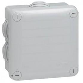 Boîte de dérivation carrée Plexo dimensions 105x105x55mm - gris RAL7035 - LEG092022