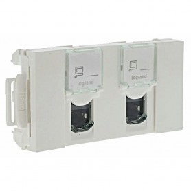 PRISE DOUBLE RJ45 C6 FTP GOULOTTE CLIPPAGE DIRECT - LEGRAND - 076546 | GENMA