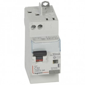 DX3 1P+NG C32 30mA TYPE AC 4500A/6KA VIS/VIS LEGRAND 410720| GENMA