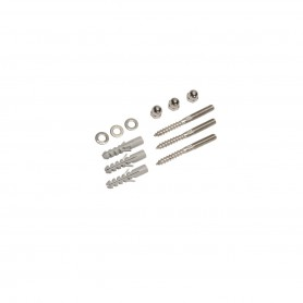 Accessoires de fixation, inox, filetage M8, écrous, chevilles et rondelles incluses
