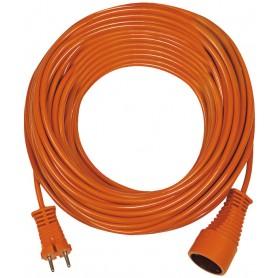 Rallonge électrique orange 20m de câble H05VV-F 2x1,5