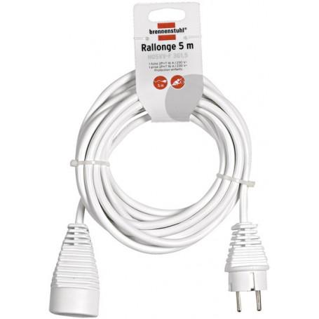 Rallonge électrique 5m de câble H05VV-F 3G1,5