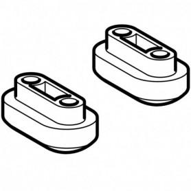 Kit d'amortisseurs de compensation pour lunette d'abattant