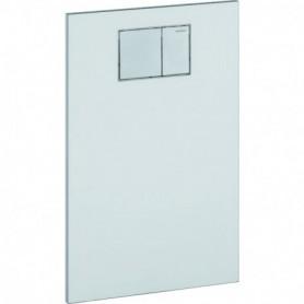 Plaque design pour abattant Geberit AquaClean: Verre / Blanc - 115.324.SI.1 - GEBERIT | GENMA