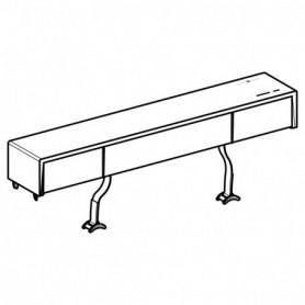 Couvercle de réservoir pour panneau sanitaire Geberit Monolith Plus pour WC: Aluminium brossé - 242.972.TA.1 - GEBERIT   GENMA