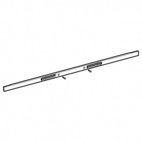 Profilé de recouvrement pour panneau sanitaire Geberit Monolith pour lavabo: Aluminium brossé - 242.724.TA.1 - GEBERIT   GENMA
