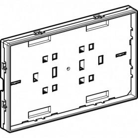 Plaque de support avec cadre visible Geberit pour plaque de fermeture Omega