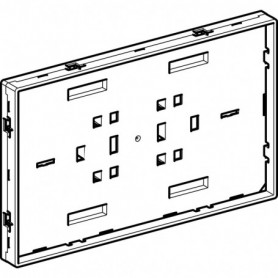 Plaque de support Geberit avec cadre visible pour plaque de fermeture Sigma