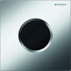 Commande d'urinoir Geberit à déclenchement électronique du rincage alimentation par pile plaque de fermeture type 01