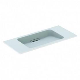 Lavabo Geberit ONE à design aérien: B:90cm blanc chromé brillant - 500.390.01.1 - GEBERIT   GENMA