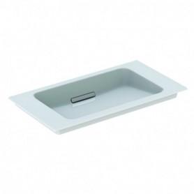 Lavabo pour meuble Geberit ONE: B:75cm blanc chromé brillant - 500.391.01.1 - GEBERIT   GENMA