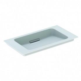 Lavabo pour meuble Geberit ONE: B:75cm blanc chromé brossé - 500.391.01.2 - GEBERIT   GENMA