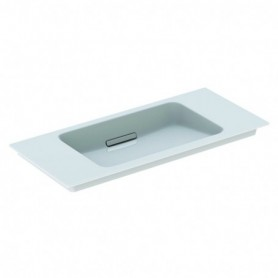 Lavabo pour meuble Geberit ONE: B:90cm blanc chromé brillant - 500.395.01.1 - GEBERIT   GENMA