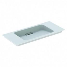 Lavabo pour meuble Geberit ONE: B:90cm blanc chromé brossé - 500.395.01.2 - GEBERIT   GENMA
