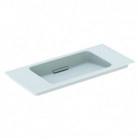 Lavabo pour meuble Geberit ONE: B:90cm blanc blanc brillant - 500.395.01.3 - GEBERIT   GENMA
