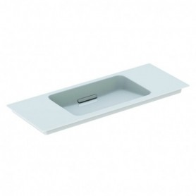Lavabo pour meuble Geberit ONE: B:105cm blanc chromé brillant - 500.396.01.1 - GEBERIT   GENMA