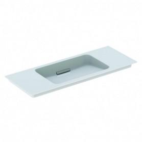 Lavabo pour meuble Geberit ONE: B:105cm blanc chromé brossé - 500.396.01.2 - GEBERIT   GENMA
