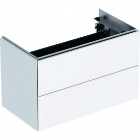 Meuble bas pour lavabo Geberit ONE avec deux tiroirs - 500.381.01.1 - GEBERIT   GENMA