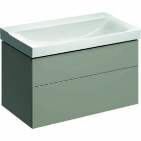 Meuble bas Geberit Xeno² pour lavabo avec deux tiroirs - 500.509.00.1 - GEBERIT | GENMA