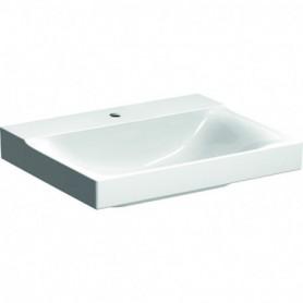 Lavabo Geberit Xeno²: B:60cm T:48cm Trou de robinet:Au centre Trop-plein - 500.530.01.1 - GEBERIT | GENMA