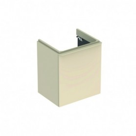 Meuble bas Geberit Smyle Square pour lavabo avec une porte Laqué ultra-brillant / Sable gris - 500.366.JL.1 - GEBERIT | GENMA