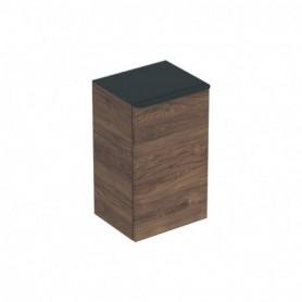 Meuble latéral bas Geberit Smyle Square avec une porte Mélamine structuré bois / Noyer Carya - 500.360.JR.1 - GEBERIT | GENMA