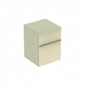 Meuble latéral bas Geberit Smyle Square avec deux tiroirs Laqué ultra-brillant / Sable gris - 500.357.JL.1 - GEBERIT | GENMA