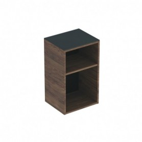 Meuble latéral bas Geberit Smyle Square sans porte Mélamine structuré bois / Noyer Carya - 500.358.JR.1 - GEBERIT | GENMA
