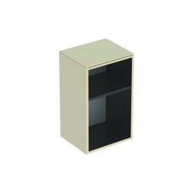 Meuble latéral bas Geberit Smyle Square sans porte: B:36cm H:60cm T:29.9cm Laqué ultra-brillant / Sable gris
