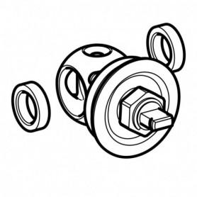 Kit partie supérieure Geberit pour robinet à boisseau sphérique encastré: DNV:20 - 243.712.00.2 - GEBERIT | GENMA