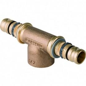 Té Geberit Mepla avec filetage femelle: d:40mm Rp:3/4'' d1:40mm - 605.362.00.5 - GEBERIT | GENMA