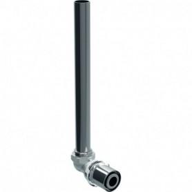 Coude de raccordement 90° Geberit Volex en tube métallique: d:20mm