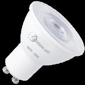 5W GU10 Ampoule LED 475 Lmn 3000K 230V Non Dimmable Aluminium - HS1301/3 - DUNYA LED | GENMA