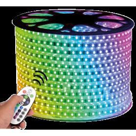 5730 Ruban LED 1400 Lmn RGB 230V Etanche12W/METRE - HS1451-RGB - DUNYA LED | GENMA