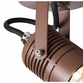 LED SPOT, applique extérieure, rouille, LED, 6W, 3000K, IP65