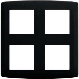 Plaque 2x2 postes anthracite - 61986 - EUROHM | GENMA